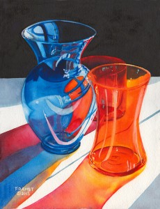 orange and blue reflections